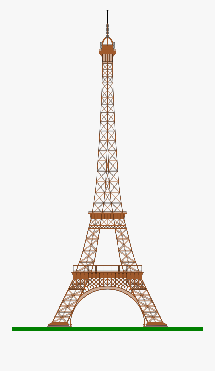 Eiffel Tower With Crown Clipart - Eiffel Tower Emoji Png, Transparent Clipart