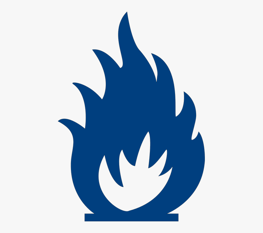 Fire Clipart Blue - Black And White Fire Clipart, Transparent Clipart