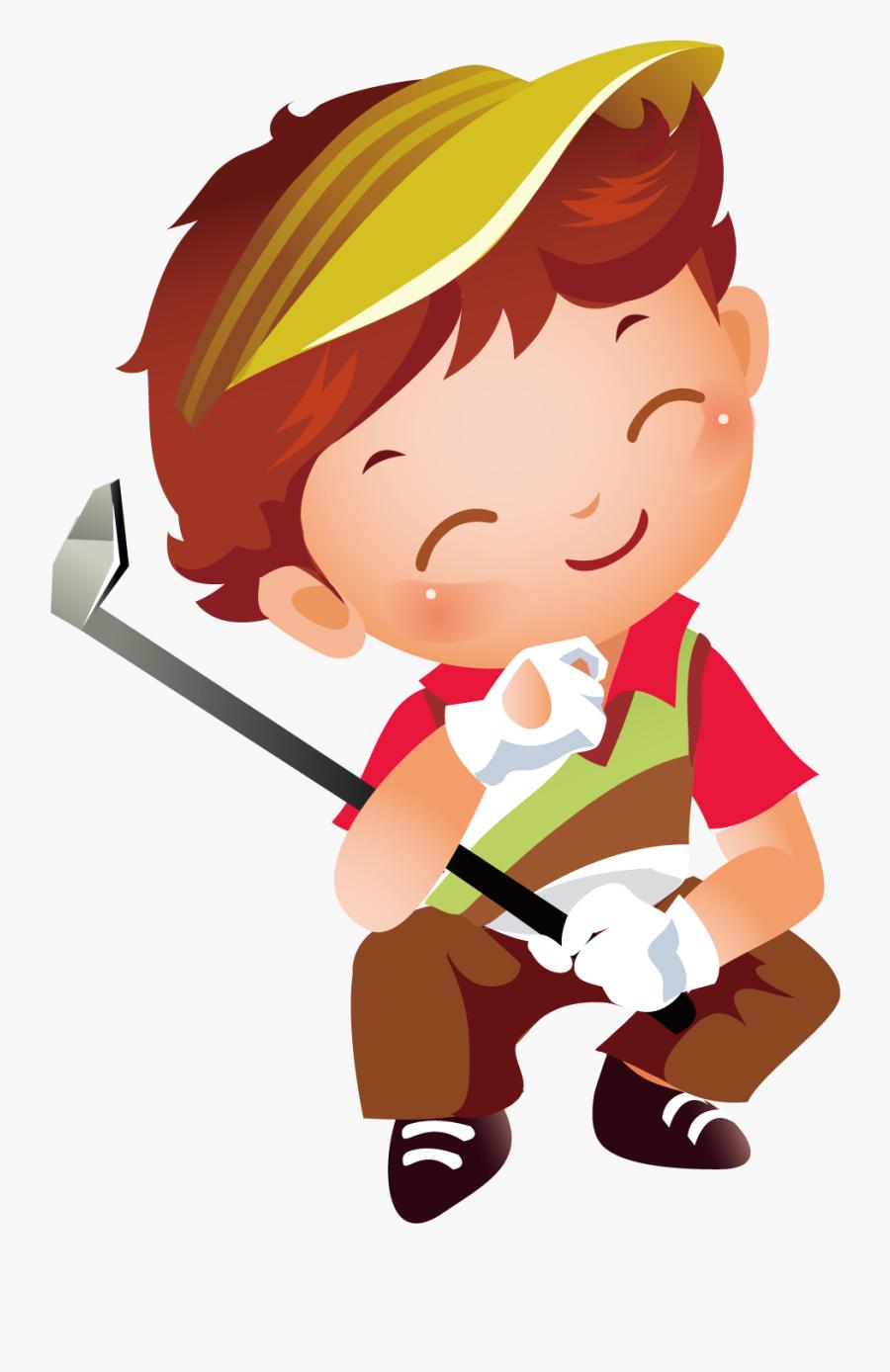 Transparent Golf Clipart Png - Golf Kids Vector, Transparent Clipart