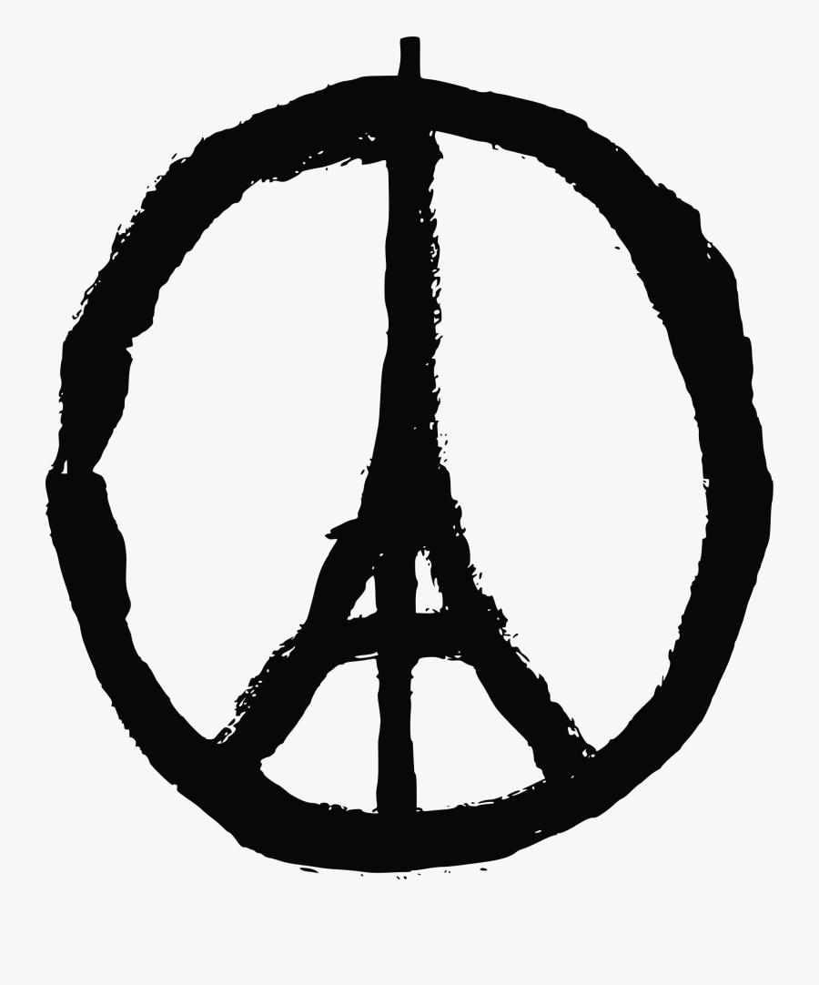 Transparent Eiffel Tower Silhouette Png Clip Art Image - Peace Paris, Transparent Clipart