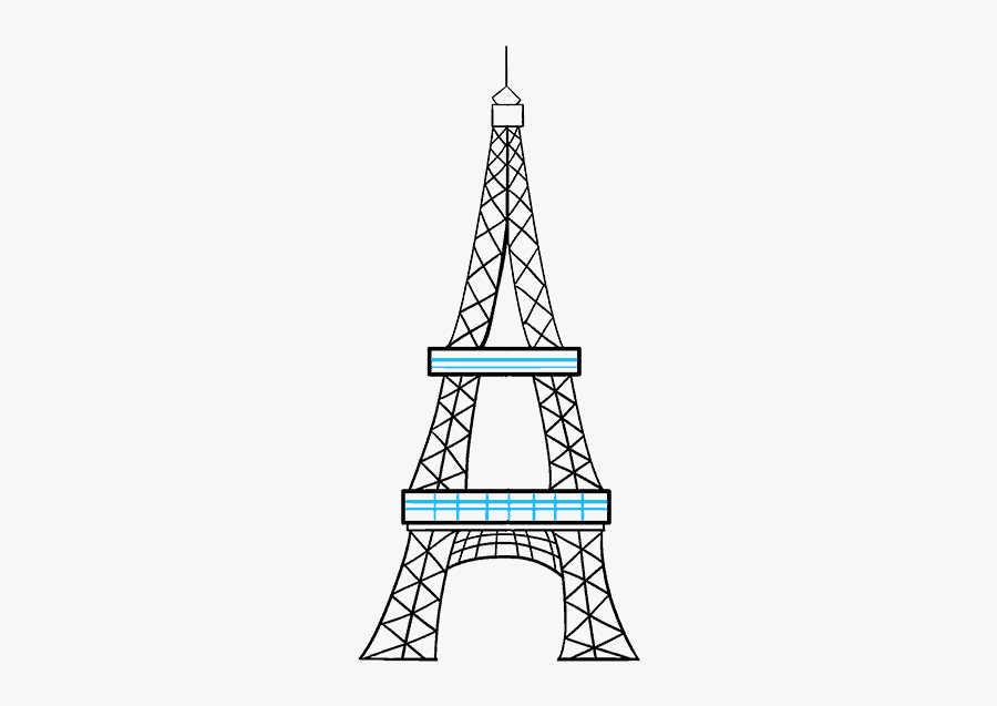 Eiffel Tower Cartoon Drawing - Easy Eiffel Tower Sketch, Transparent Clipart