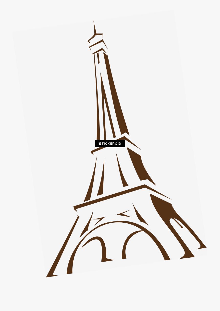 Eiffel Tower Hd & France Travel World - Eiffel Tower Drawing Transparent, Transparent Clipart