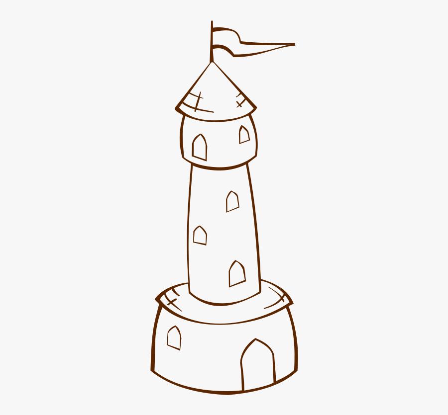 Line Art,area,line - Tower Castle Art Drawing, Transparent Clipart