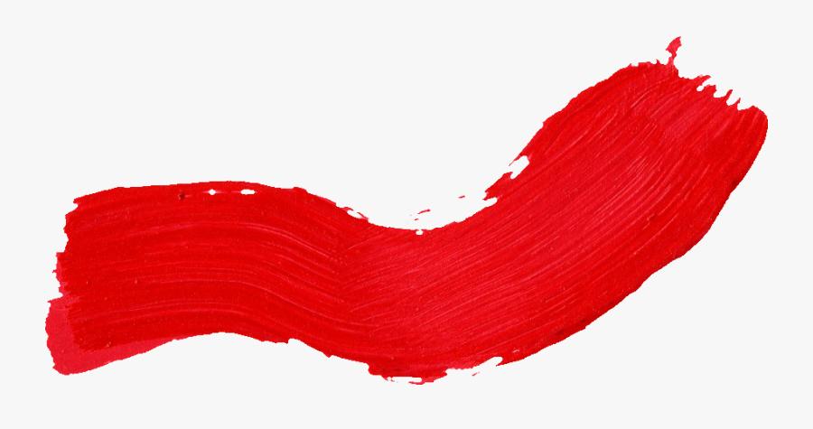Paint Brush Clipart Transparent - Red Paint Line Png, Transparent Clipart