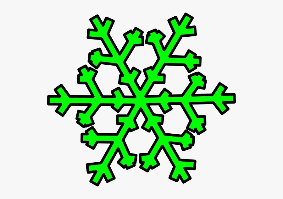 Green Snowflake Clip Art At Clker - Transparent Clipart Green Snowflake, Transparent Clipart
