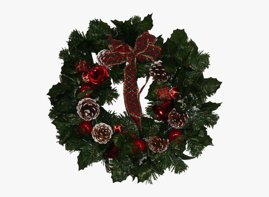 Download Icon Vectors Free Christmas Wreath - Wreath, Transparent Clipart