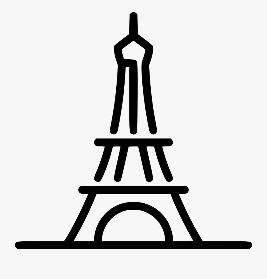 Eiffel Tower - Eiffel Tower Paris Icon, Transparent Clipart