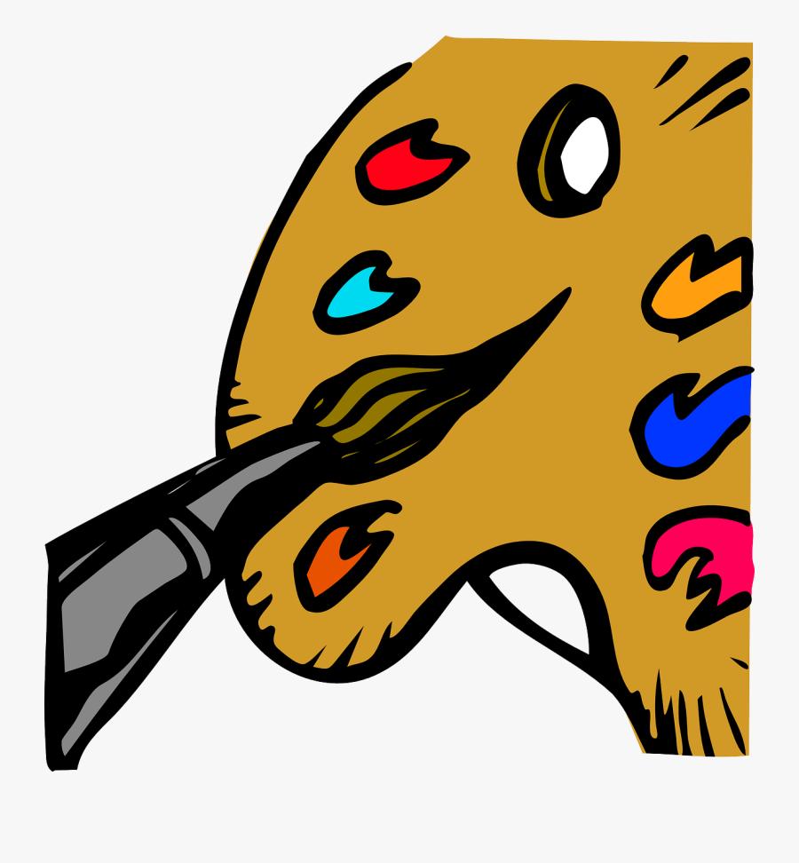 Paintbrush Clipart Vector Graphics - Painting Clip Art, Transparent Clipart