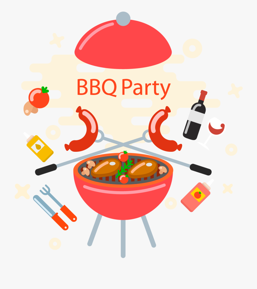 Transparent Grill Clipart - Clipart Barbecue Party, Transparent Clipart