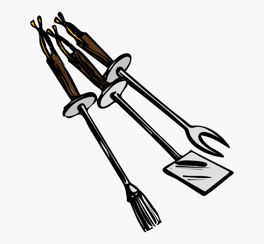Bbq Grilling Tools Clip Art Free Vector 4vector - Bbq Clip Art, Transparent Clipart