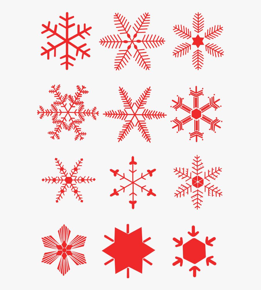 Red Snowflake Cliparts - Red Snowflake Clipart Free Snowflake Transparent Background, Transparent Clipart