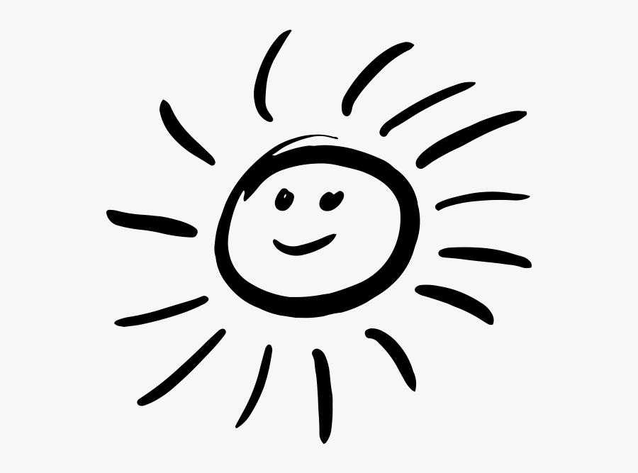 Transparent Half Sun Clipart Black And White - Happy Sun Clipart Black And White Png, Transparent Clipart