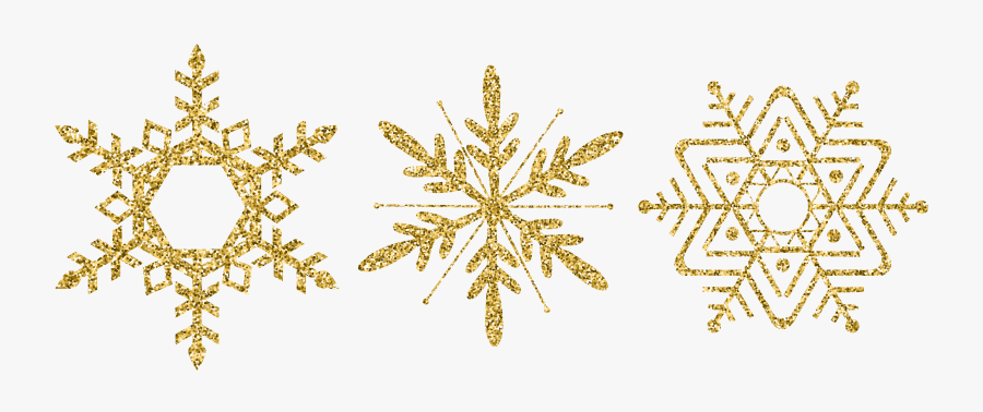 Snowflake Clipart Winter Frame - Gold Snowflakes Png Free, Transparent Clipart