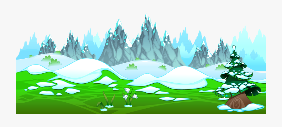 Transparent Mountain Clip Art - Icy Mountains Drawing, Transparent Clipart