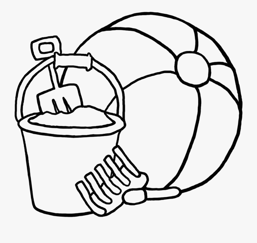 Beach Ball Clipart Black And White 6 Clip Art Coloring - Beach Ball Coloring Page, Transparent Clipart