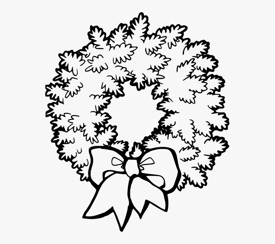 Wreath, Tribute, Floral, Cemetery, Memorial, Death - Wreath Clip Art Black And White, Transparent Clipart