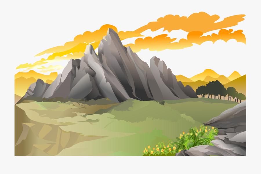 Transparent Mountains Vector Png - Landscape Mountain Vector, Transparent Clipart