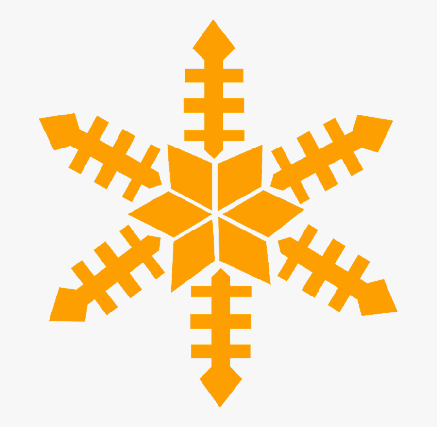 Orange Snowflake Clipart, Transparent Clipart