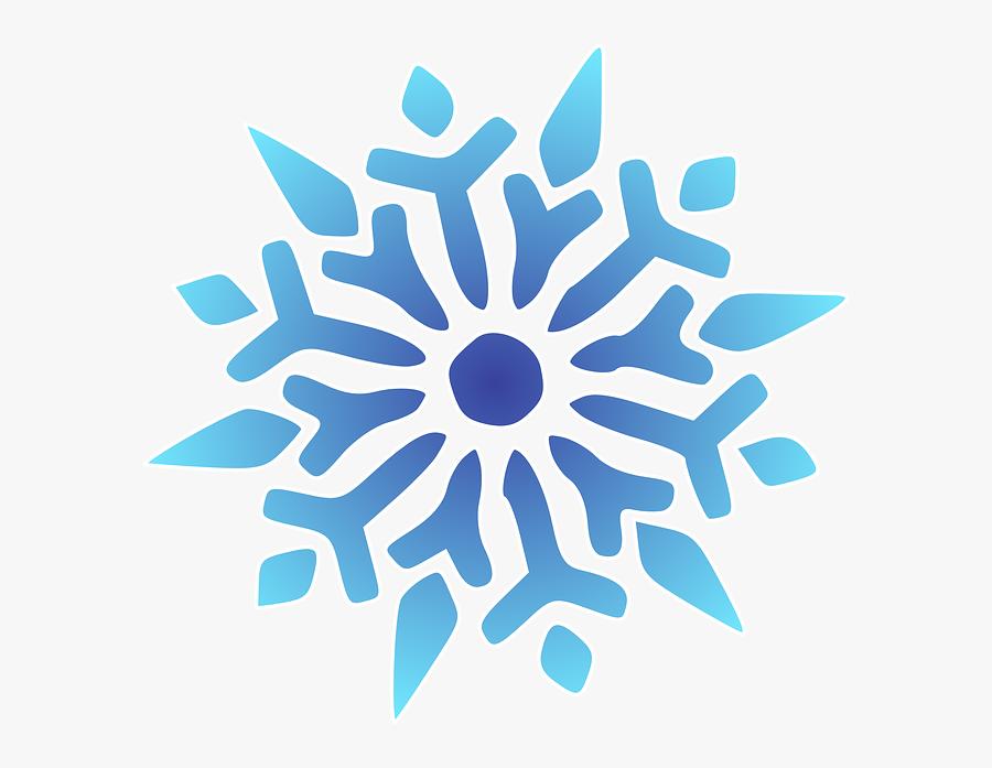 Snowflake No Background - Cartoon Transparent Background Snowflake, Transparent Clipart