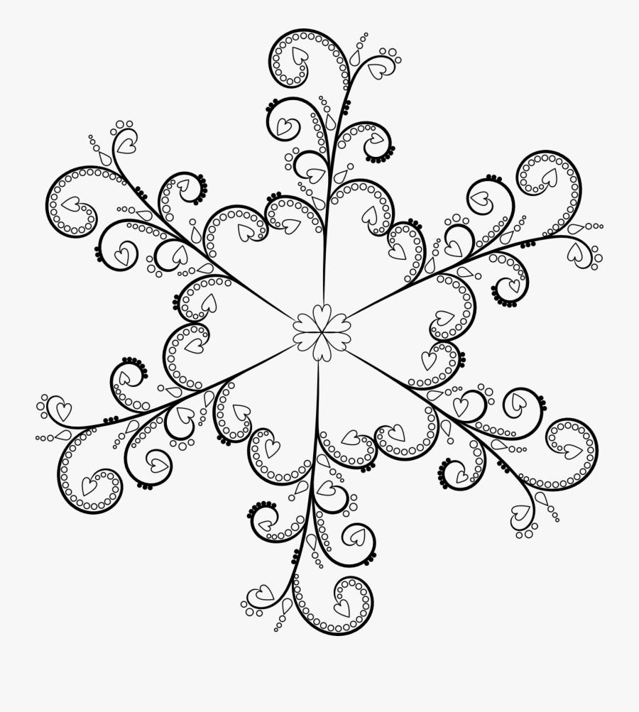 Snowflake Clipart Pretty - Free Printable Snowflakes Clipart, Transparent Clipart
