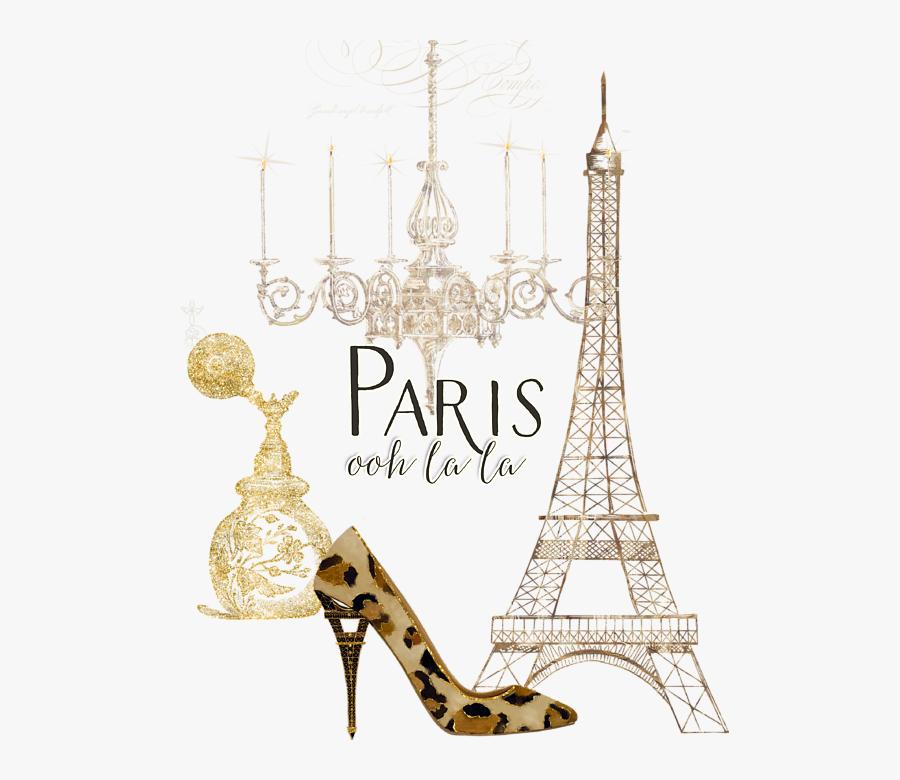 Ooh La Fashion Eiffel - Paris Ooh La La Card, Transparent Clipart