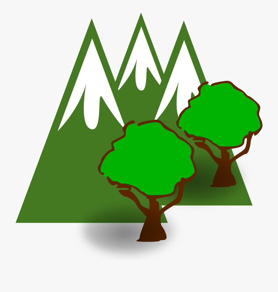 Clipart - Forested Mountains - Forested Mountains Clipart, Transparent Clipart