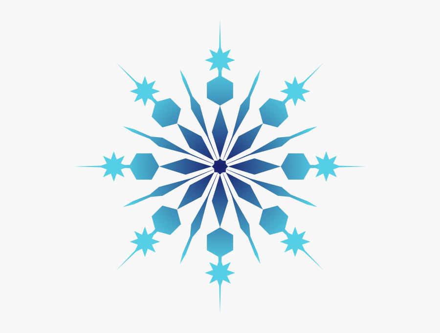 Snowflake Clipart Blue - Transparent Background Snowflake Clip Art, Transparent Clipart