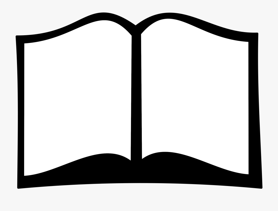 Clip Art Open Books Vector - Silhouette Of Book, Transparent Clipart