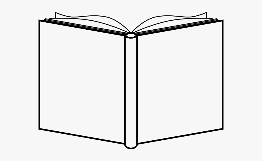 Open Clipart Book - Open Book Cover Outline, Transparent Clipart