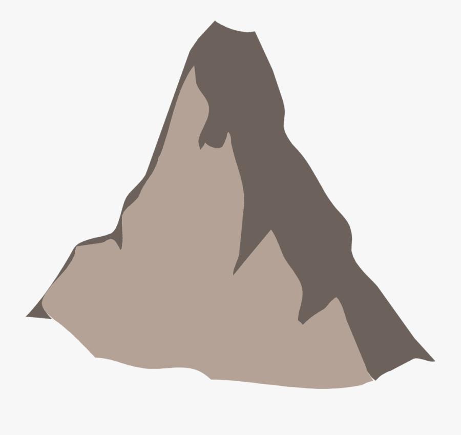 Moutain Vector Mountain Peak - Mountain Peak Clip Art, Transparent Clipart