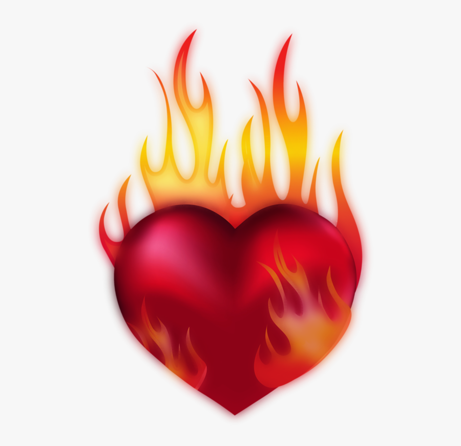 Coeur Tube Png I - Heart Of Fire Clipart, Transparent Clipart