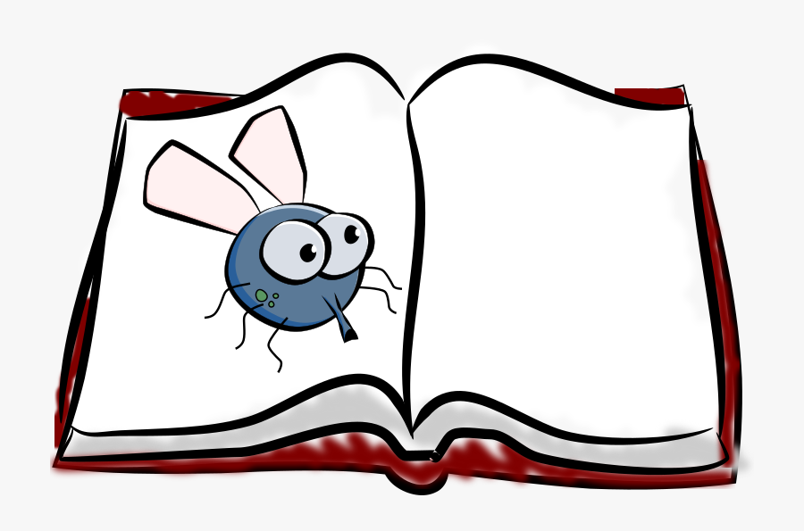 Fly On A Book - Transparent Open Book Clip Art, Transparent Clipart