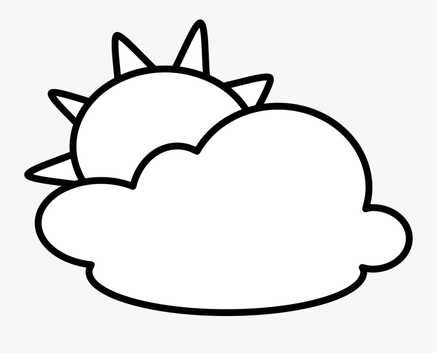 Sun And Clouds Clipart Black And White , Png Download - Clouds Clipart Black And White, Transparent Clipart
