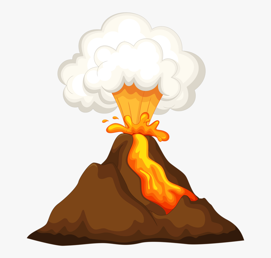 Transparent Volcano Png - Transparent Background Volcano Clipart, Transparent Clipart