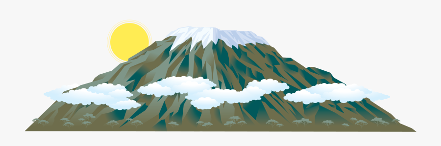 Mount Kilimanjaro Mountain Clip - Mount Kilimanjaro Clipart, Transparent Clipart