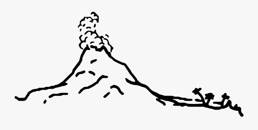Volcano Island Logo Logo - Volcano Island Black And White, Transparent Clipart