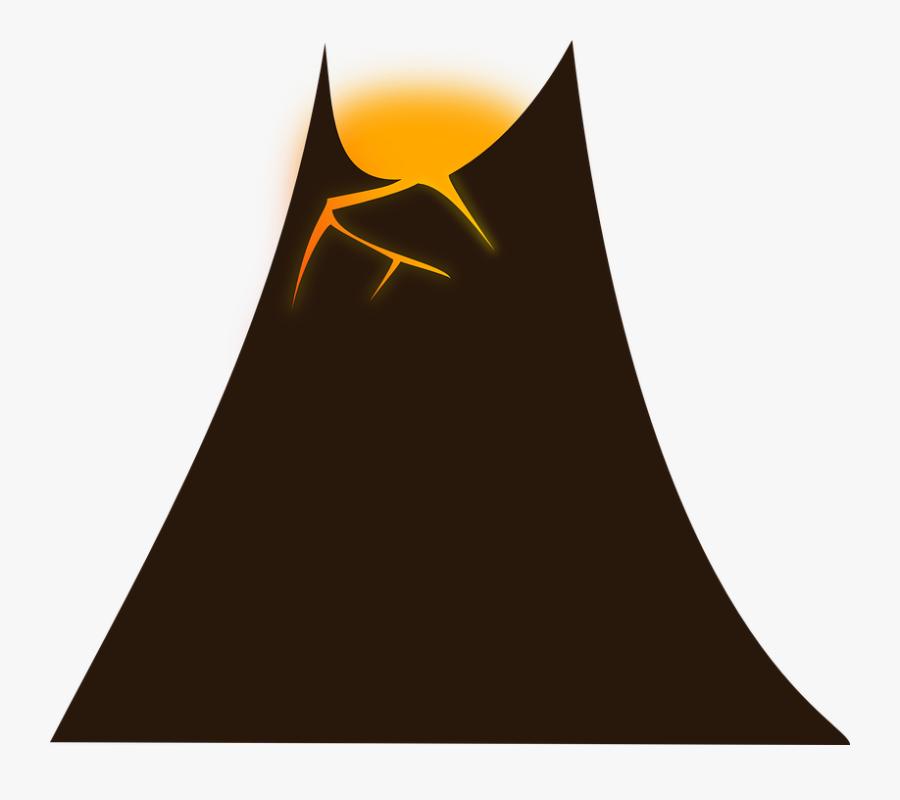 Volcano Animation, Transparent Clipart