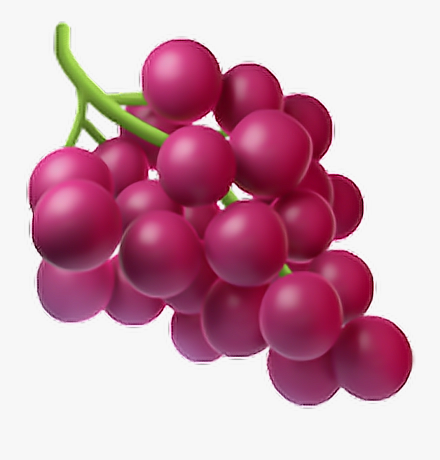 Grapes Clipart Purple Apple - Fruit Emoji, Transparent Clipart