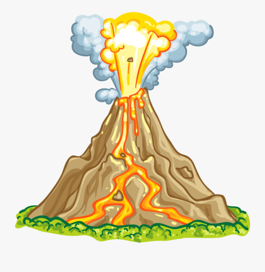 Volcano Clip Clear Background - Detail Picture Of Volcano, Transparent Clipart