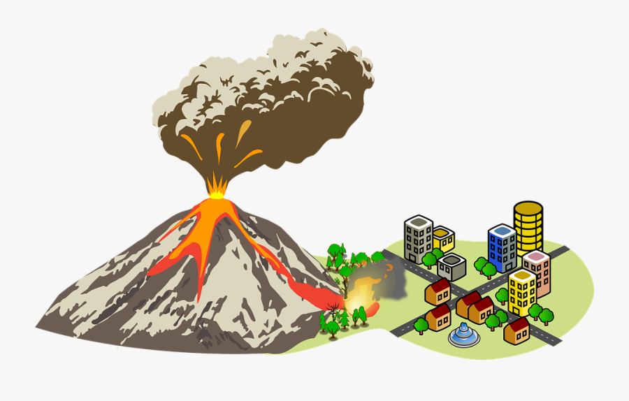 Emergency, Disaster, Volcano, Volcanic, Eruption, Lava - Volcanic Eruption Clip Art, Transparent Clipart