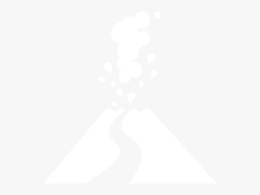 Volcano Png Icon White, Transparent Clipart