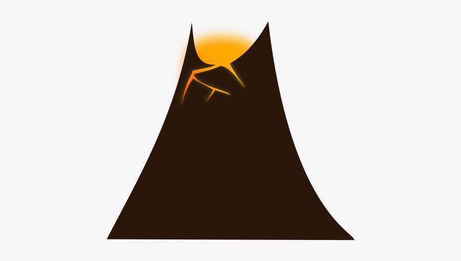 Simple-volcano - Simple Volcano Clipart, Transparent Clipart