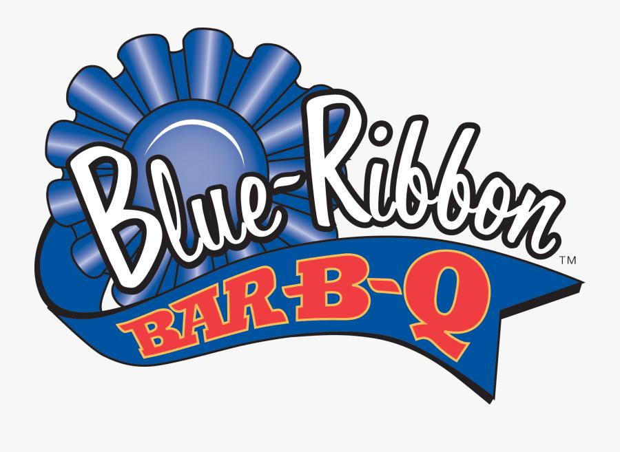 Blue Ribbon Bbq Logo, Transparent Clipart