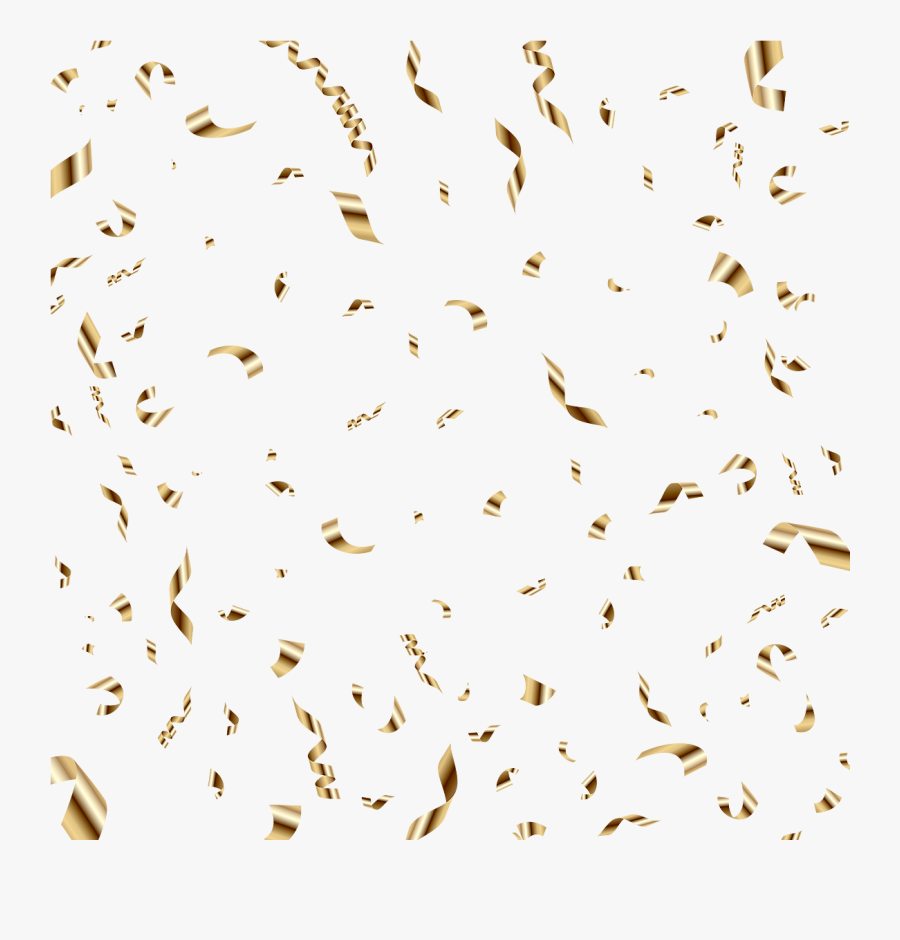 Gold Balloon Sequin Birthday Confetti Photography Clipart - Transparent Background Confetti Png Transparent Gold, Transparent Clipart