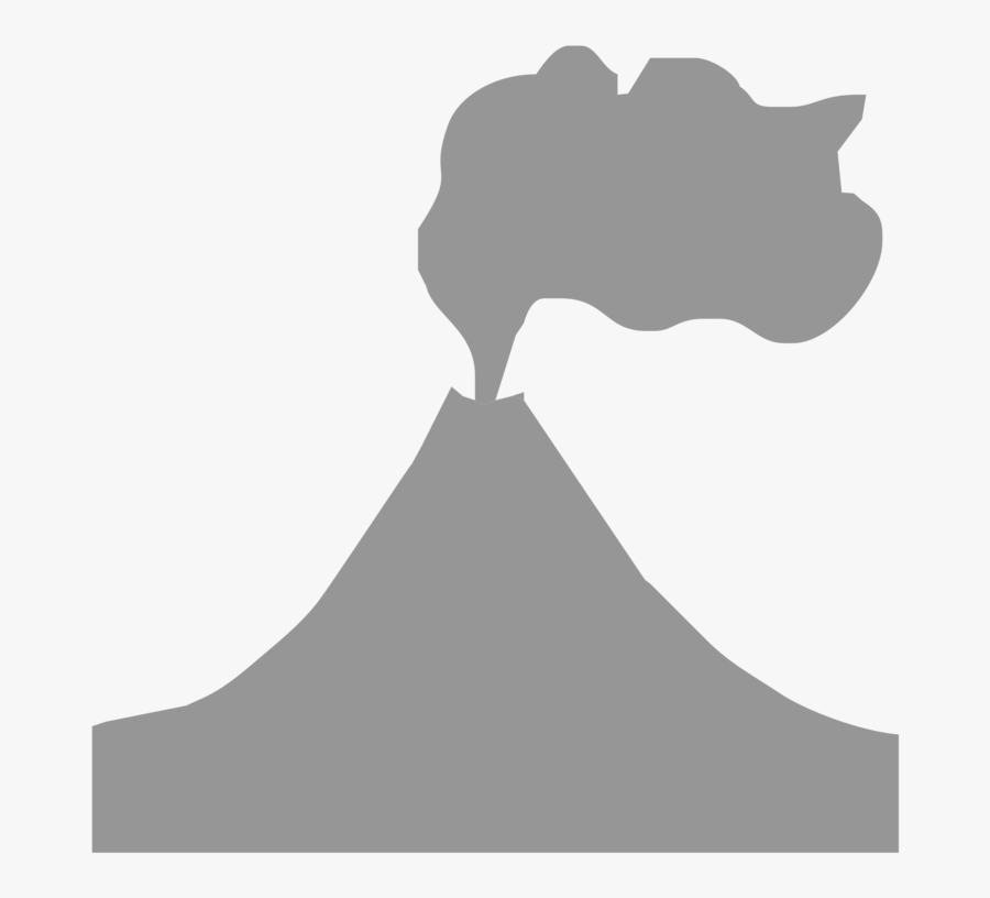 Transparent Volcano Clipart Black And White - Black And White Volcano Png, Transparent Clipart