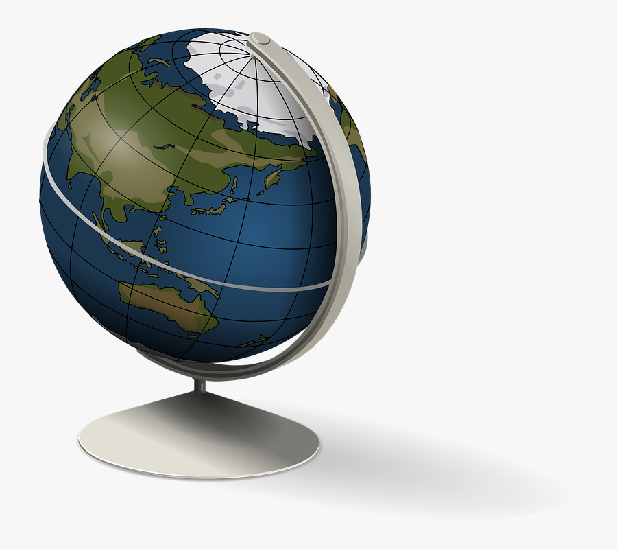 Globe Earth World Geography Education Planet - Globe Clip Art, Transparent Clipart