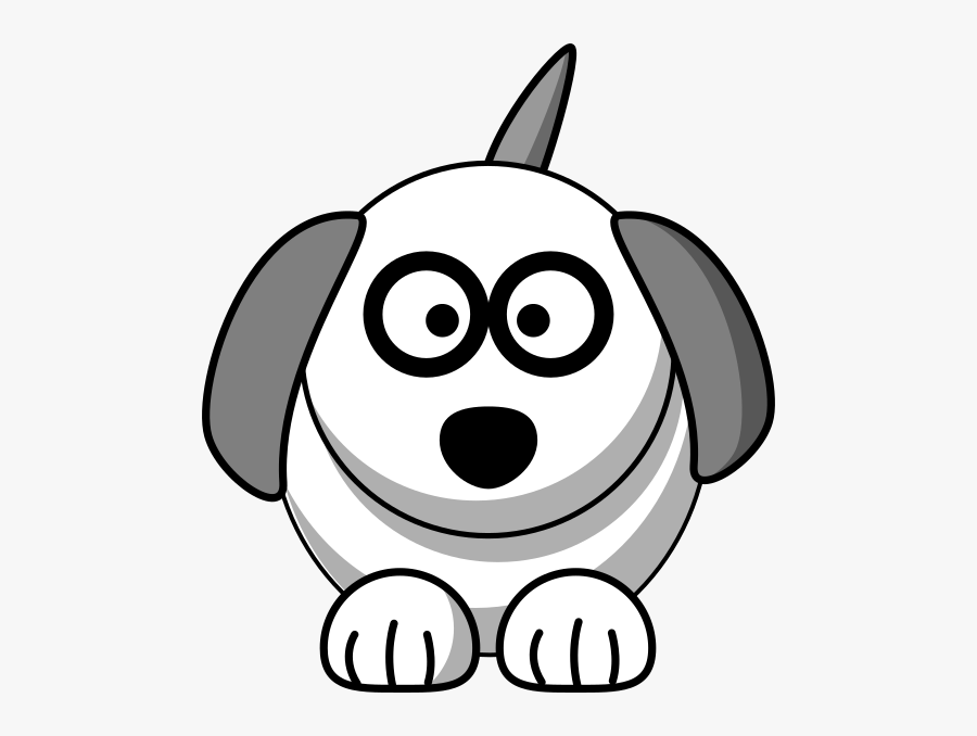 Cute Clipart Animals Black And White Dog, Transparent Clipart