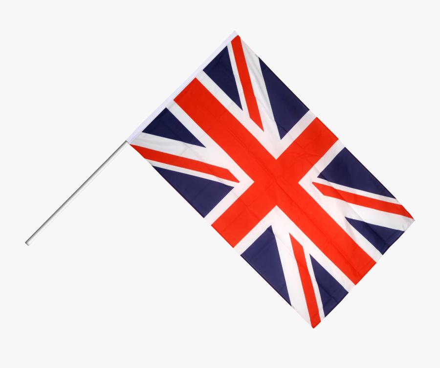 Great Britain Hand Waving Flag - Uk Flag Shopping Cart, Transparent Clipart