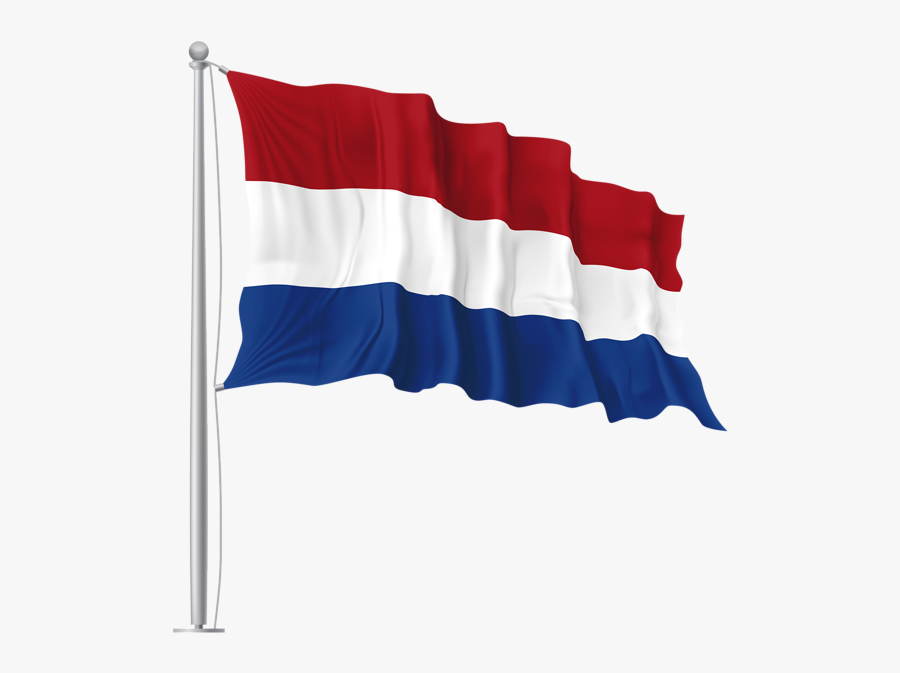 Netherlands Waving Flag Png Image - Italy Flag Waving Png, Transparent Clipart