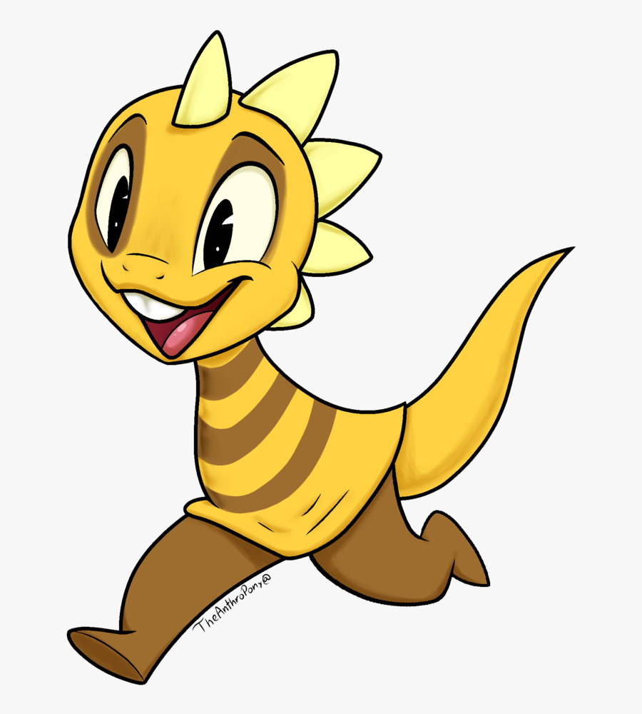 How To Draw A Cute Baby Dinosaur For Kids - Undertale Monster Kid, Transparent Clipart